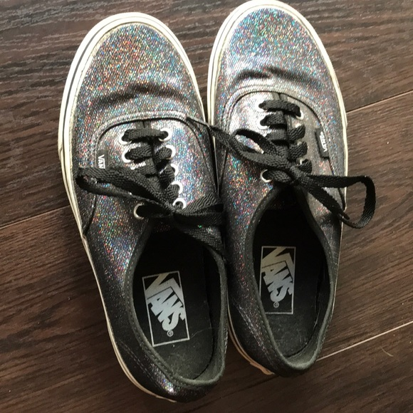 vans glitter rainbow